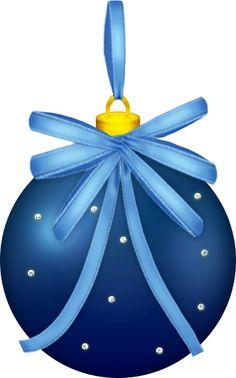 CHRISTMAS BLUE ORNAMENT CLIP ART.