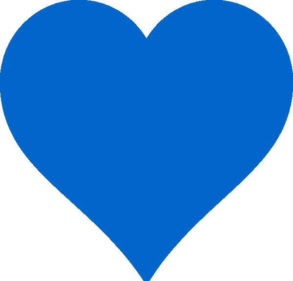 Blue heart clipart png.