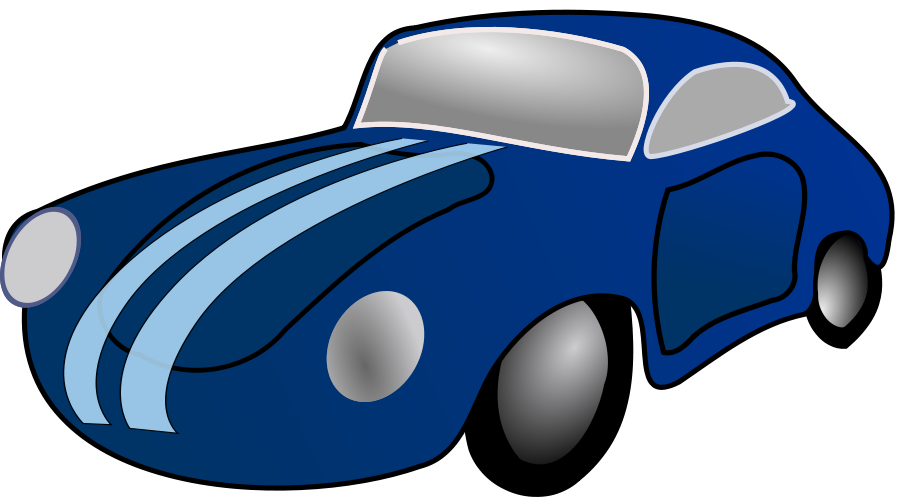 Blue Car Clipart.
