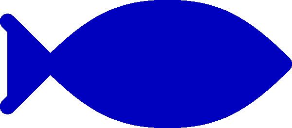 Blue fish clipart.