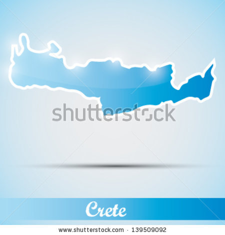 Crete Greece Map Stock Images, Royalty.