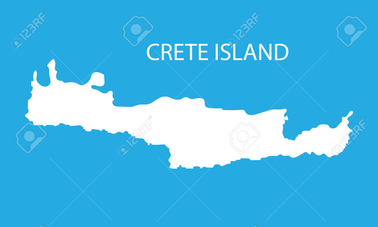 White Map Of Crete Royalty Free Cliparts, Vectors, And Stock.