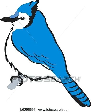 Blue Jay Art Bird Artwork.