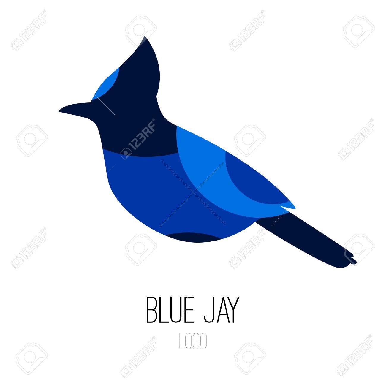 Blue Jay vector icon. Flat design..