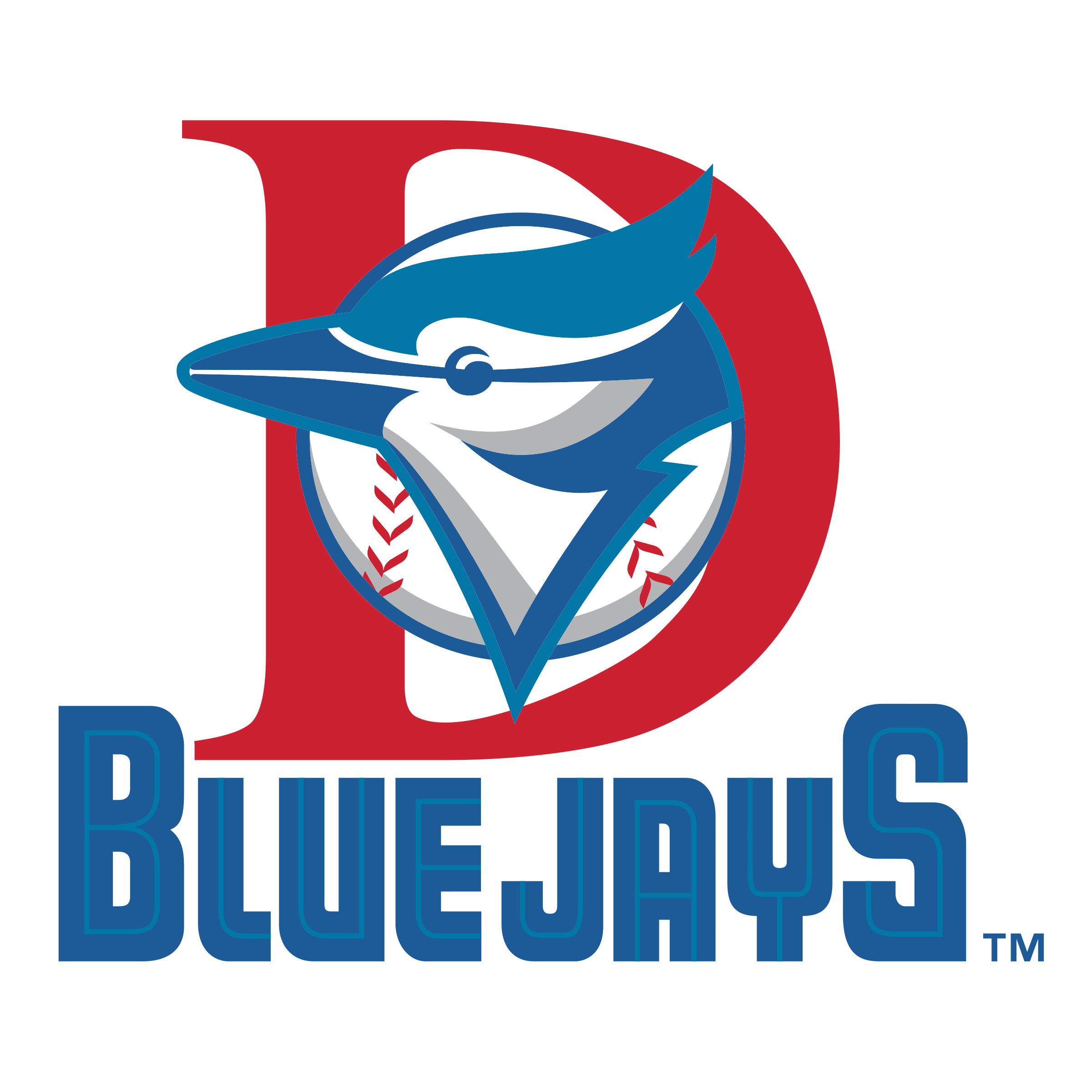 Dunedin Blue Jays Logo PNG Transparent & SVG Vector.