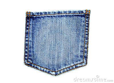 Blue Jean Pocket Clipart #1.