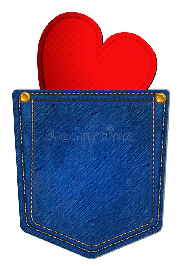 Blue Jean Pocket Stock Illustrations.