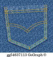 Jean Pocket Clip Art.