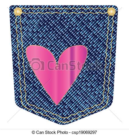 Heart Denim Pocket.