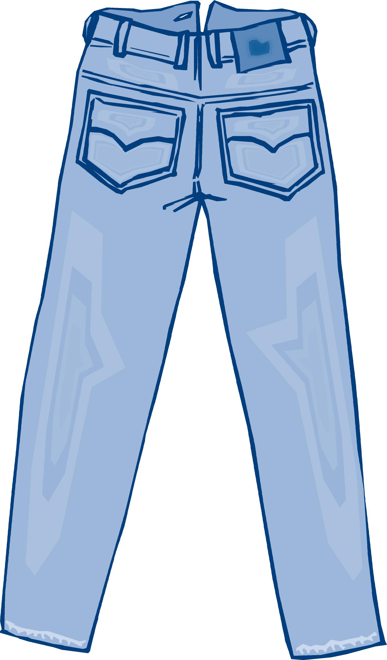 Blue jeans clip art.