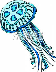Blue Jellyfish Clipart Picture.