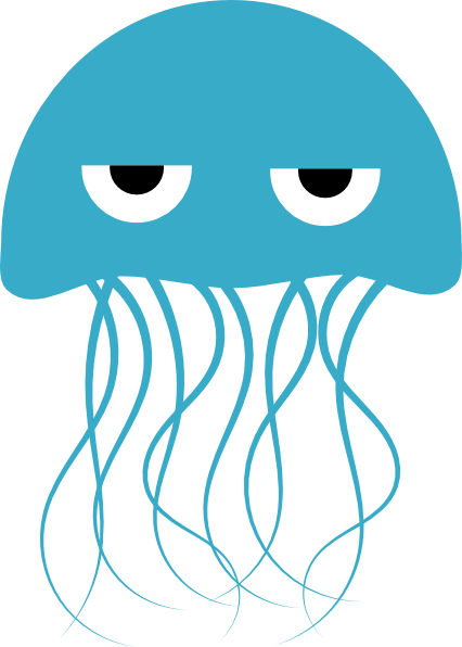 Blue Jellyfish Clip Art at Clker.com.