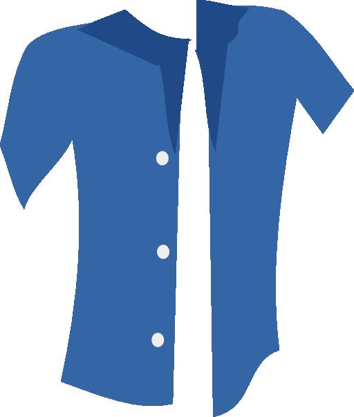 Blue Shirt Clipart.