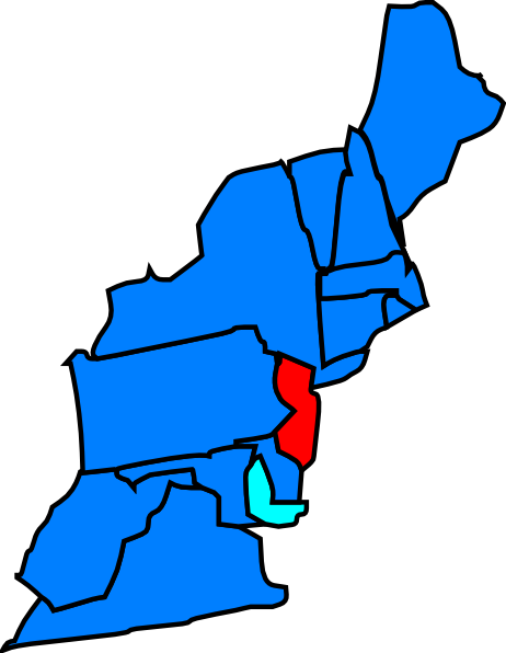 Blue New Jersey Maps Clipart.