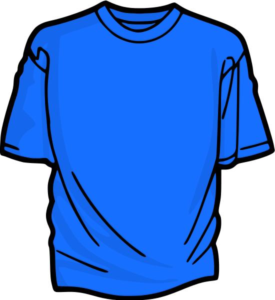 Blue t shirt clip art.