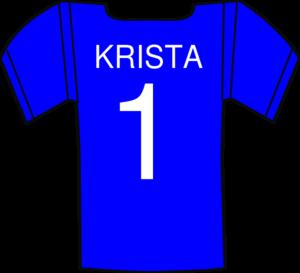 Blue Football Jersey Clipart.