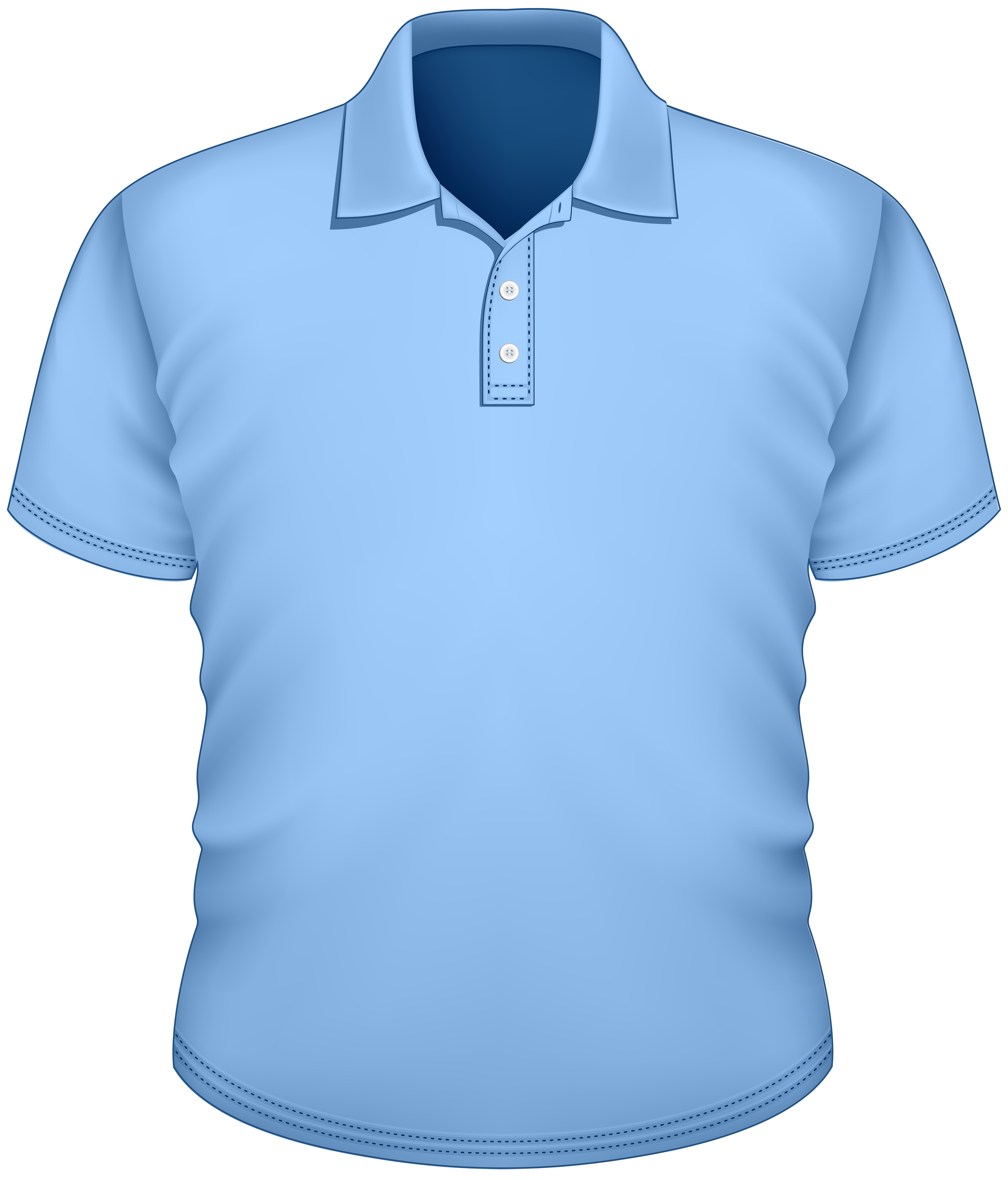 Male Blue Shirt PNG Clipart.