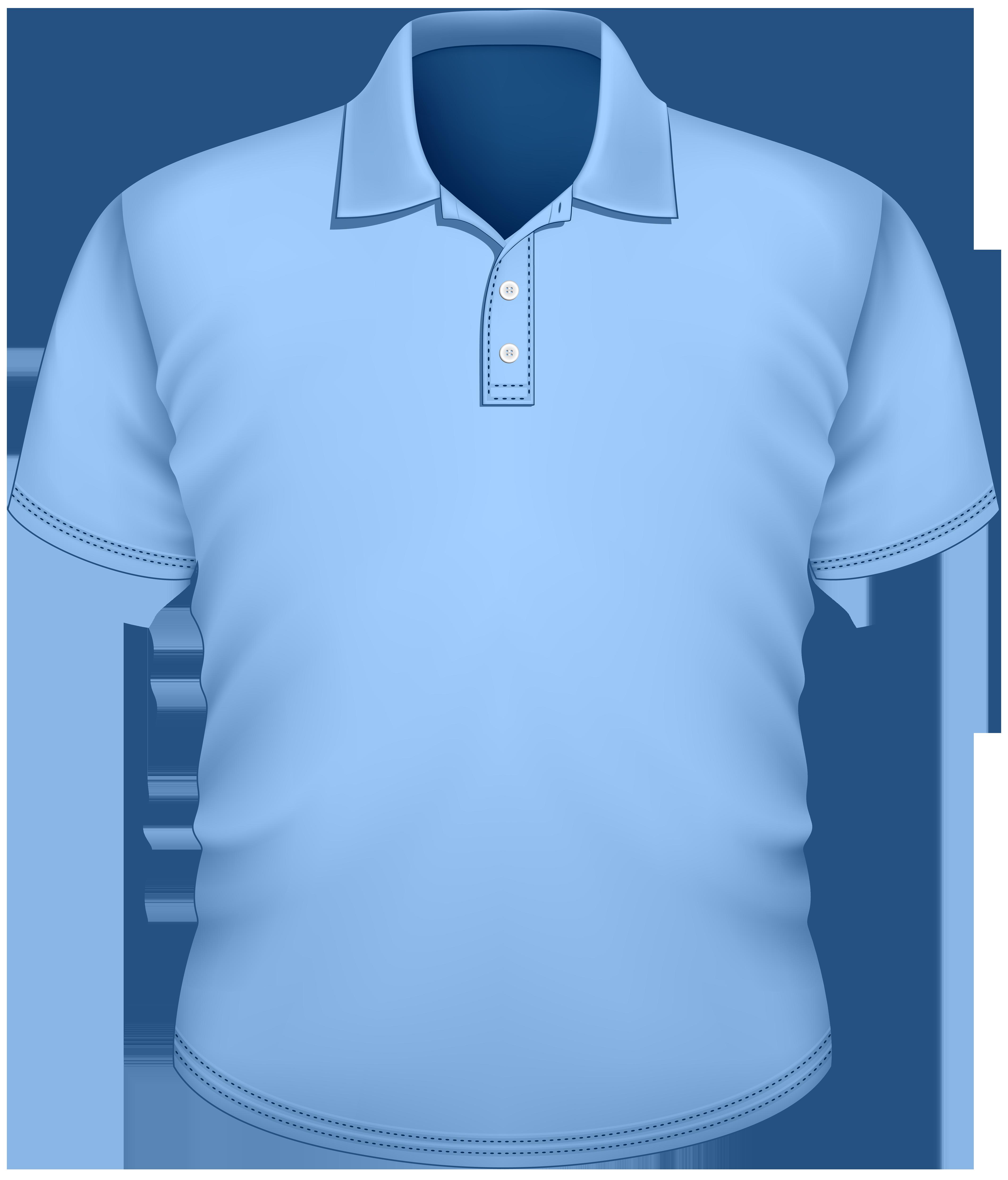 Male Blue Shirt PNG Clipart.