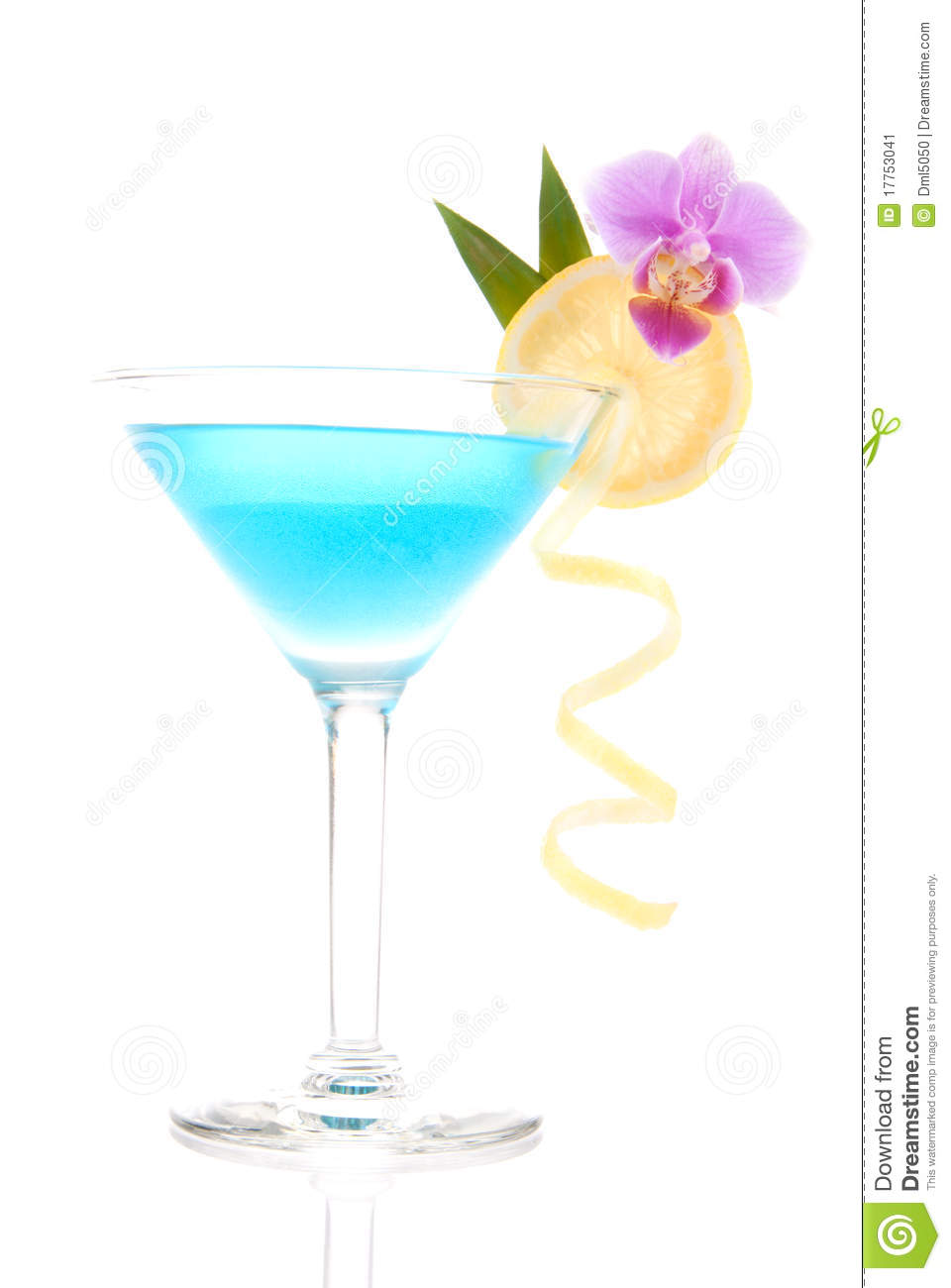 Blue Lagoon Cocktail Stock Image.