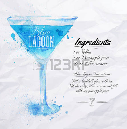 151 Blue Lagoon Cocktail Stock Illustrations, Cliparts And Royalty.