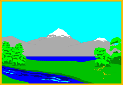 Blue lake clipart.
