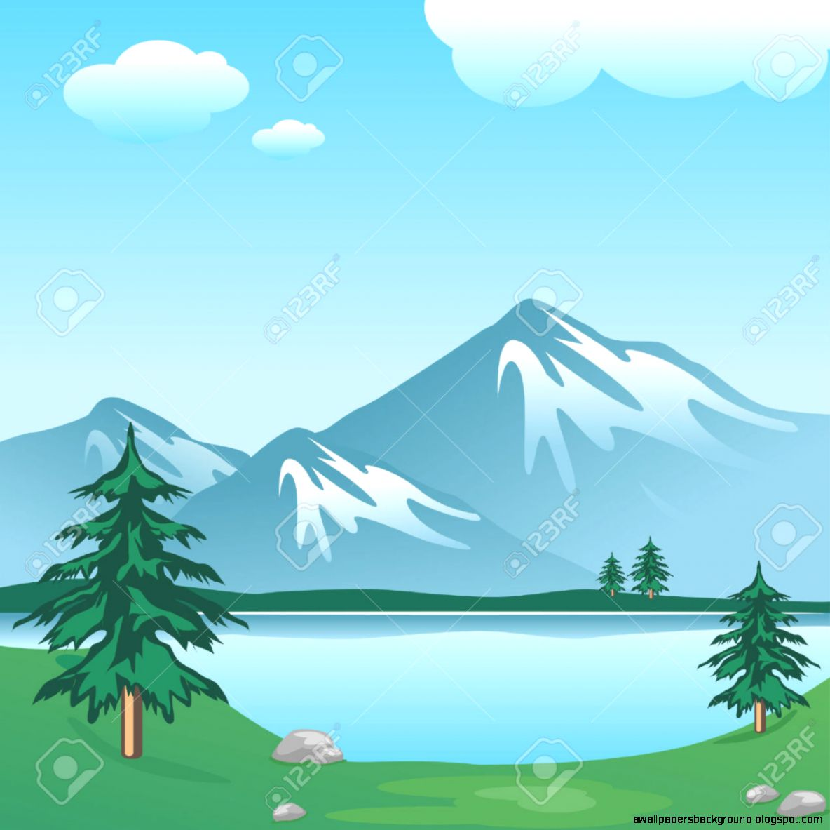 View Of The Lake Clipart