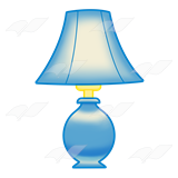 A Beka Book :: Clip Art :: Blue Lamp—with blue lampshade.