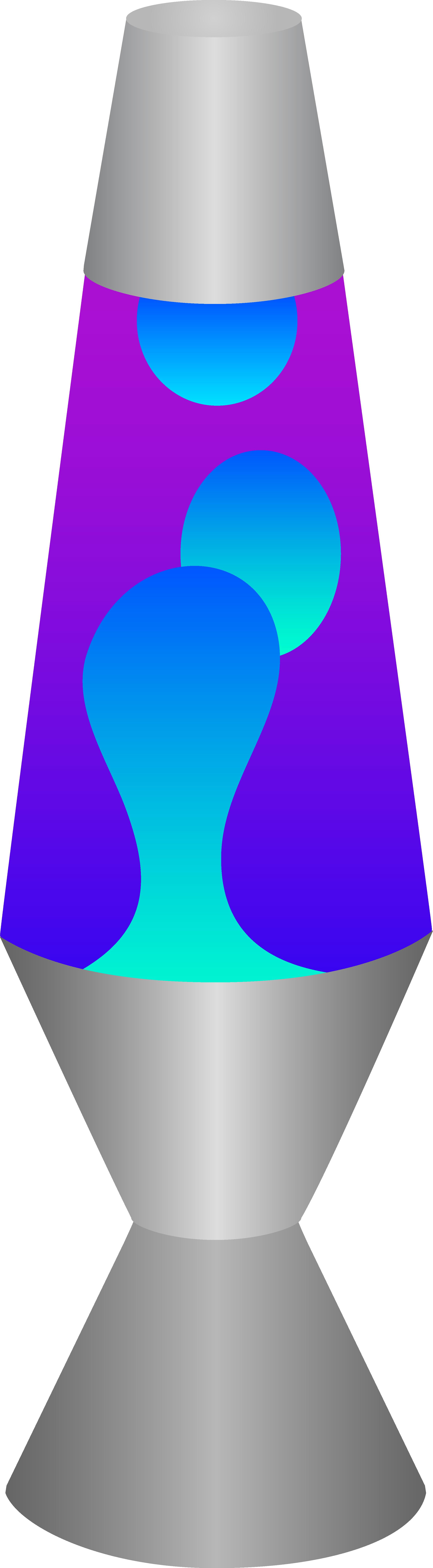 Blue and Purple Lava Lamp.