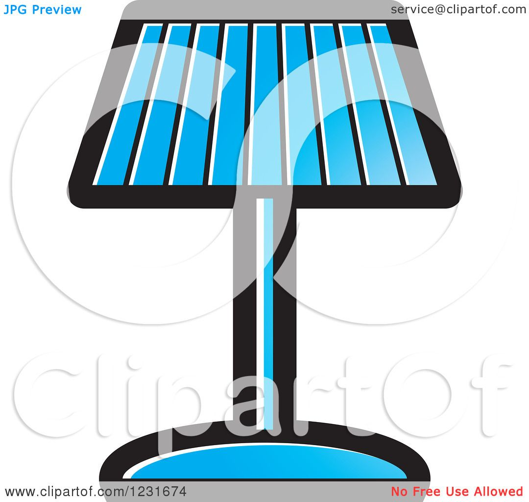 Clipart of a Blue Lamp Icon.