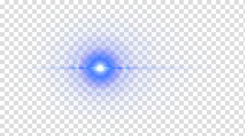 Star illustration, Purple Blue Lens Flare transparent.