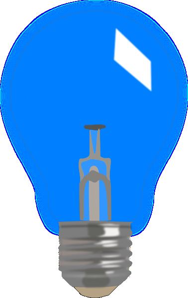 Blue Light Bulb Clipart.
