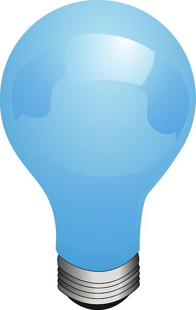 Free Blue Light Bulb Clip Art.
