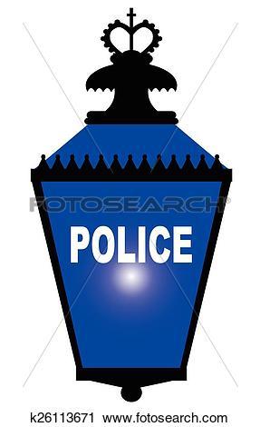 Clipart of Police Station Blue Light k26113671.