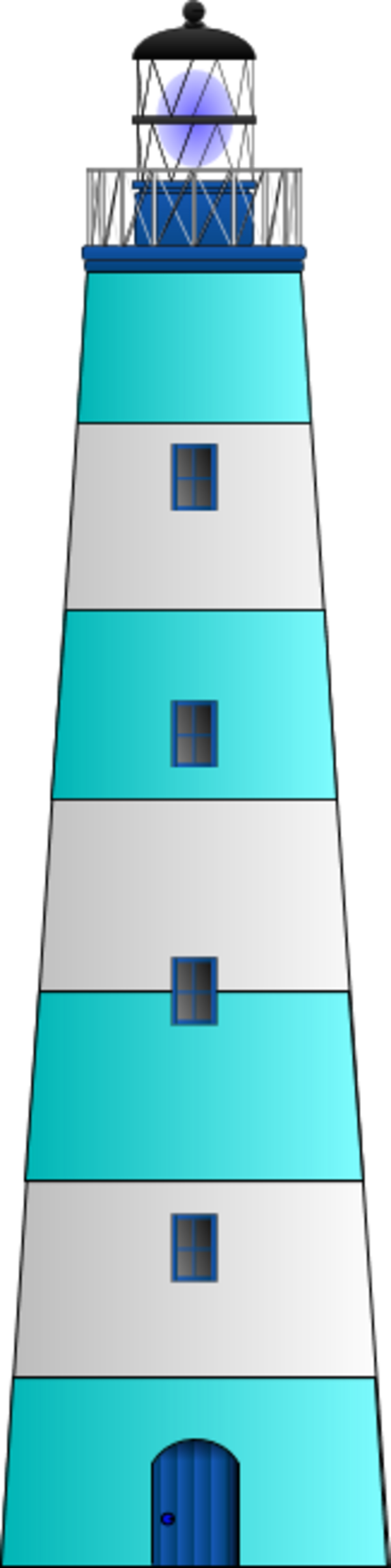 Free Blue Lighthouse Clipart Image.