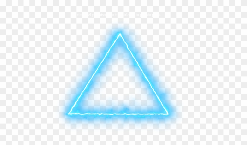 Blue Triangle Neon Lights Png Neon Effect Light Png.