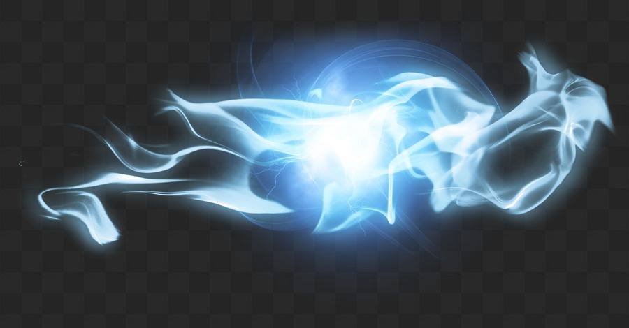 PNG, Blue flashes, blue light effects on a transparent background.