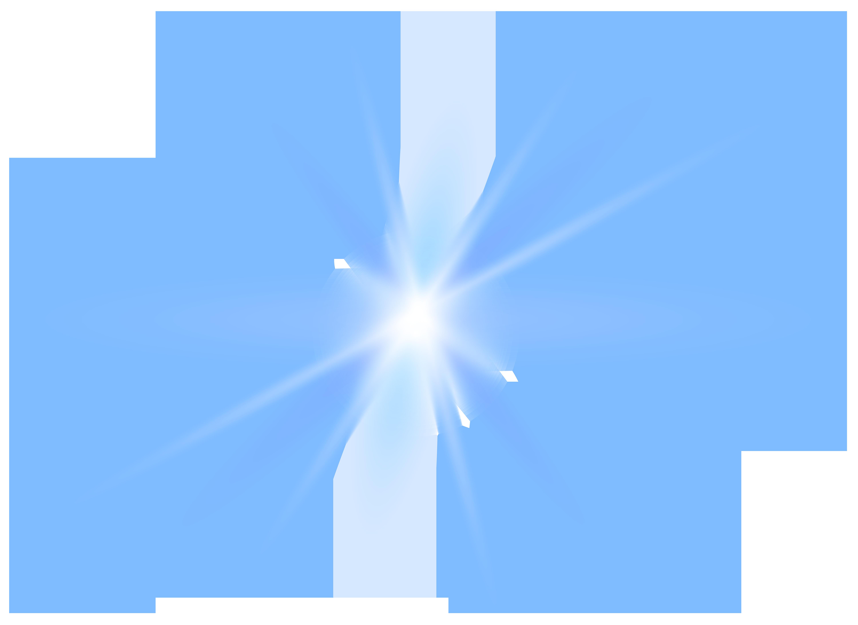 Blue Light Effect Transparent Clip Art PNG Image.
