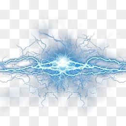 Blue Lightning PNG Images.