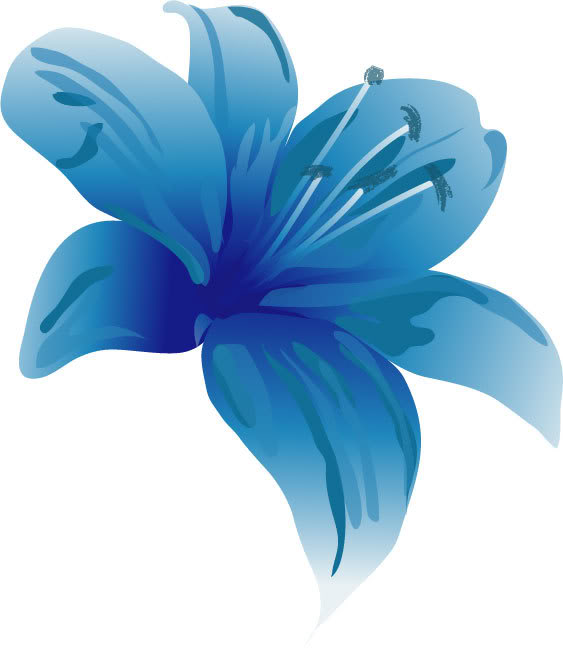 Blue lily clipart image #26834.