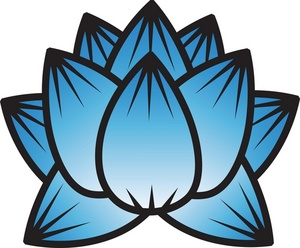 Blue water lily clipart.
