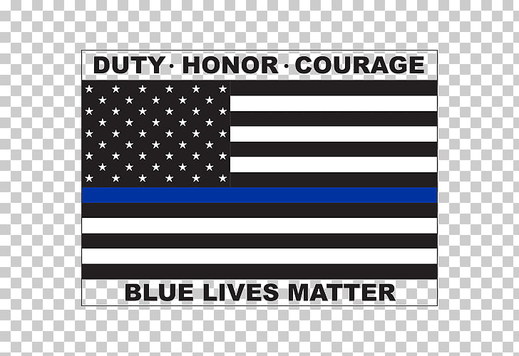 Blue Lives Matter Thin Blue Line Flag of the United States.