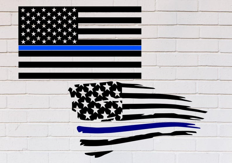 American flag Thin blue line svg, Back the blue svg, Blue lives matter svg,  Distressed svg, Police svg, SVG, DXF, eps, png, pdf, Shirt.