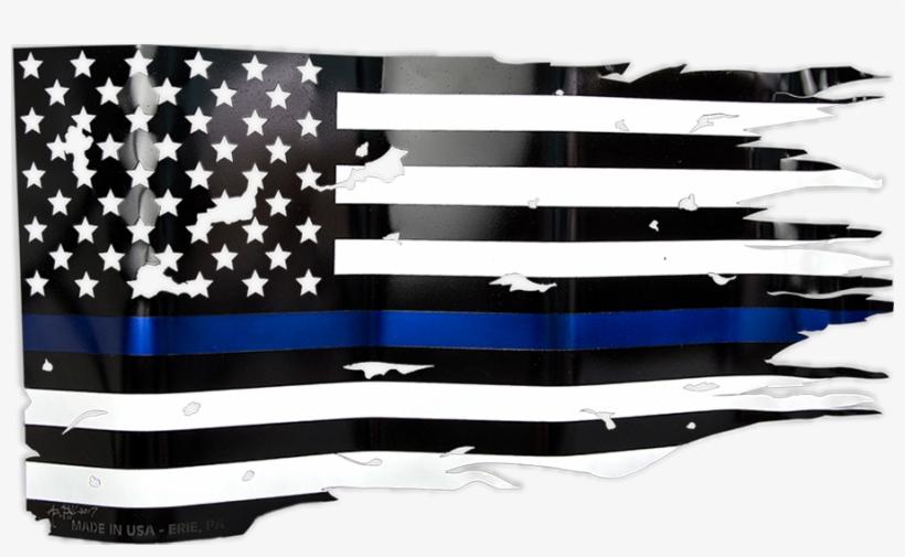 Blue Line Flag Png.