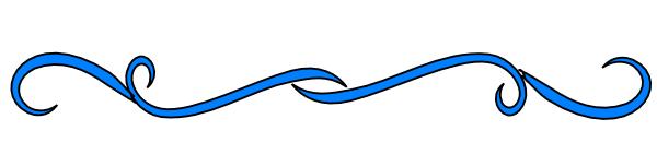 Blue Line Divider Clipart.