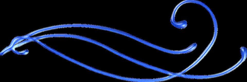 Decorative Line Blue PNG Transparent Images.