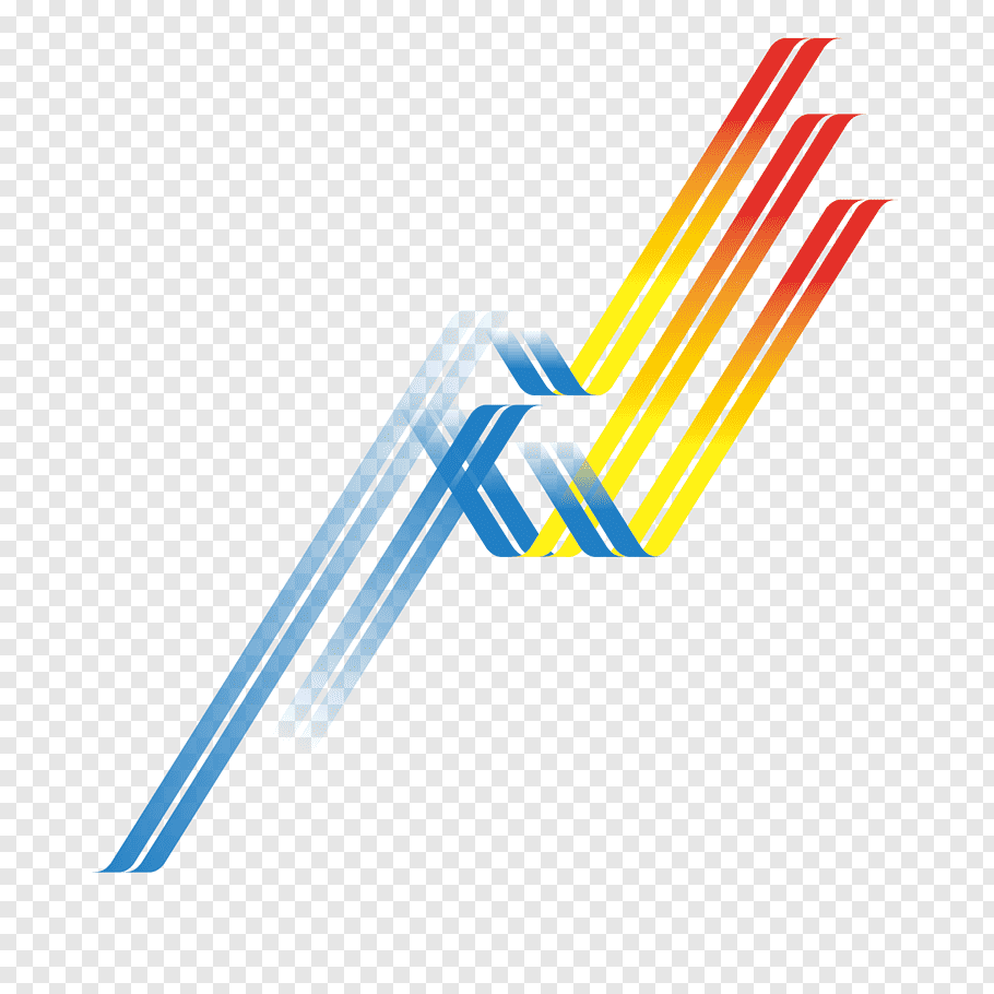 Blue, yellow, and red logo, Line Curve, Wavy lines free png.