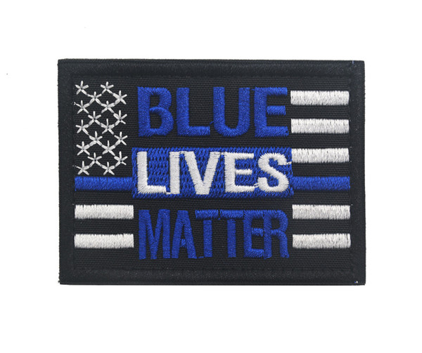 2019 Custom Blue Lives Matter Patch US Flag Tactical Patch Army Morale  Military Badge Hook Biker Outdoor For Bag Vest Free Ship From Onerepublic2,.