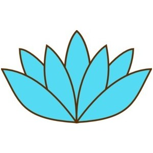 Blue Lotus Flower clip art.