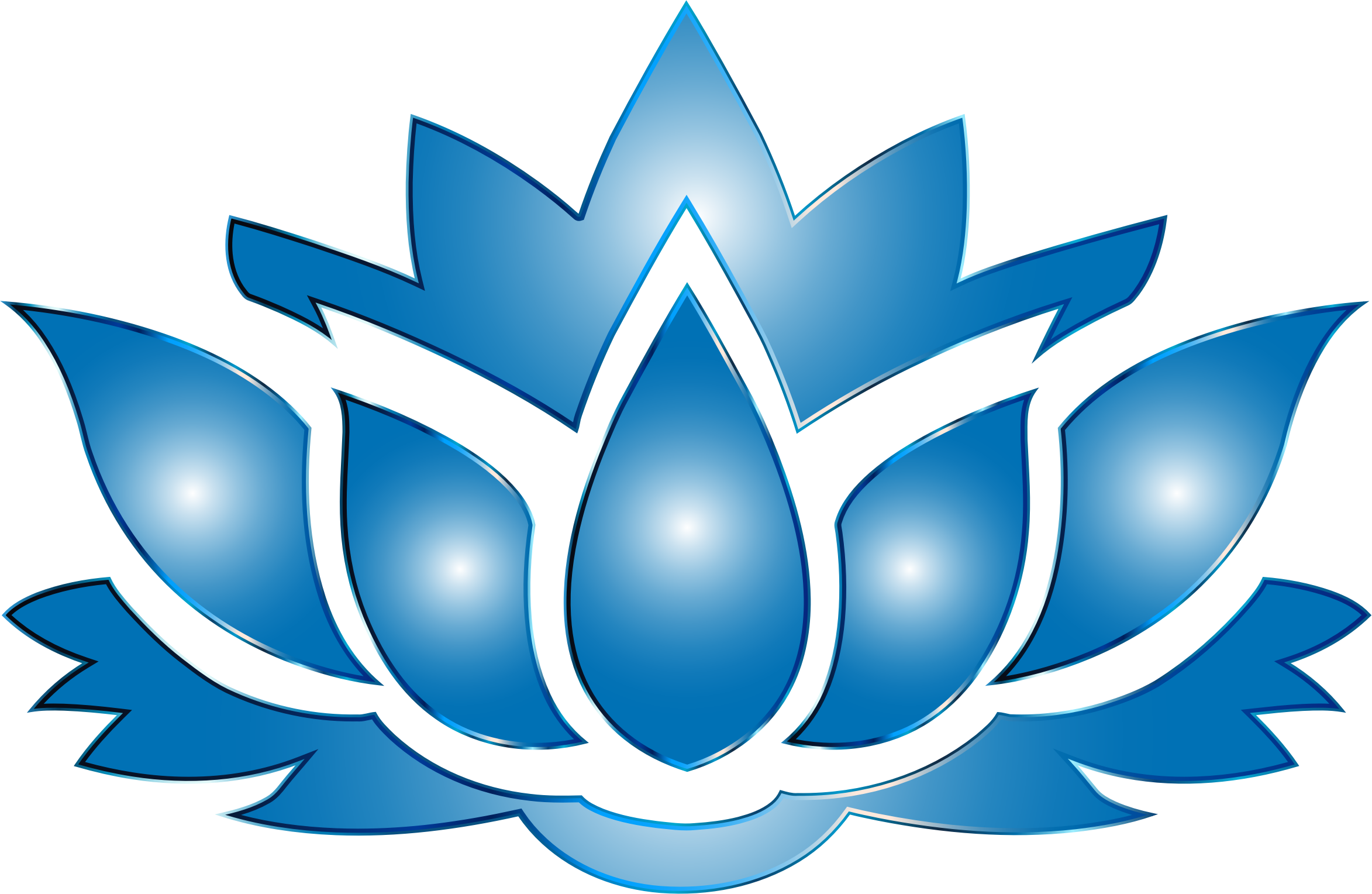 Lotus flower clipart transparent background.