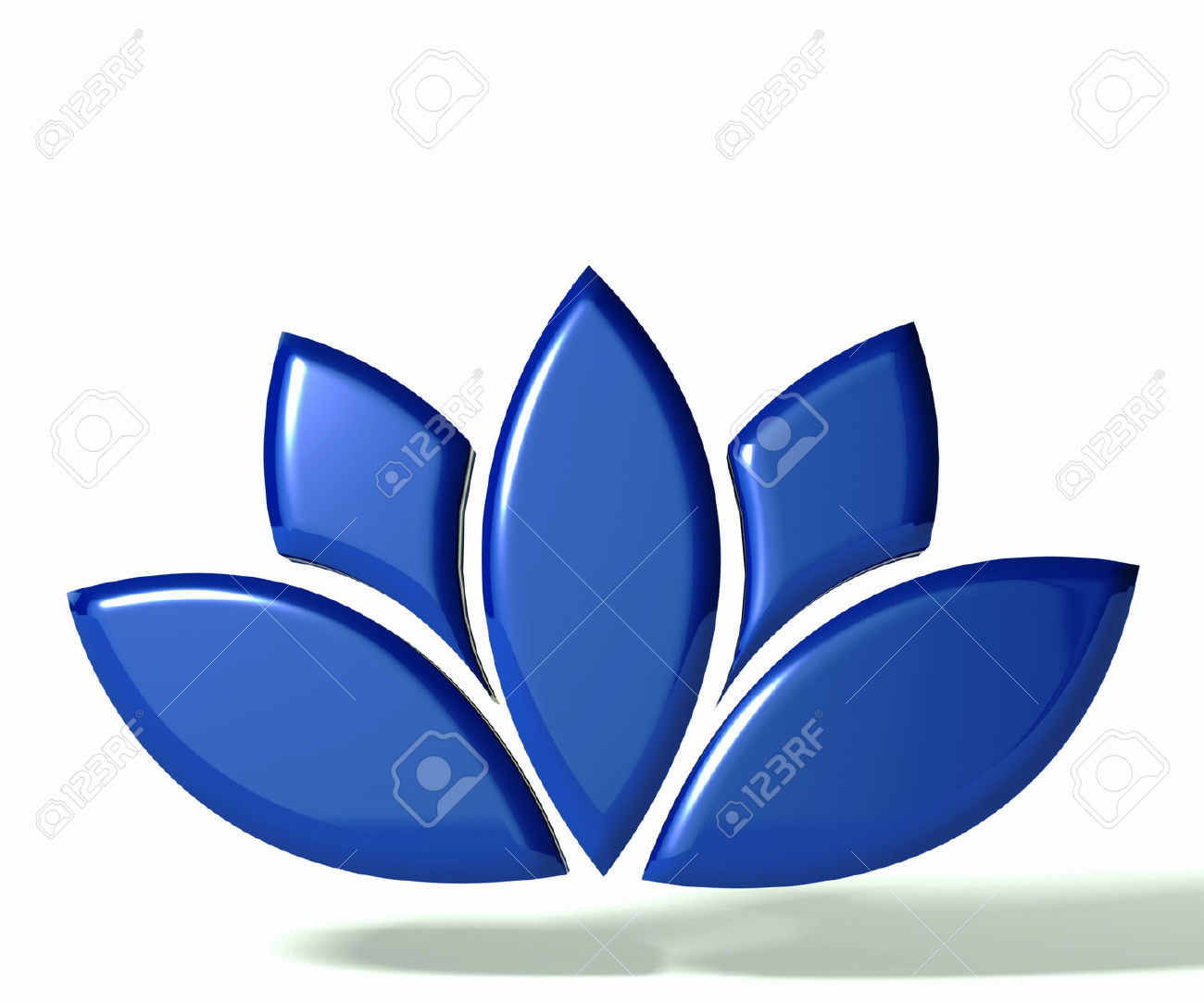 Blue Lotus Flower 3D Image Stock Photo, Picture And Royalty Free.